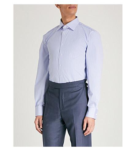 THOMAS PINK Grant cotton shirt (Pale+blue/white