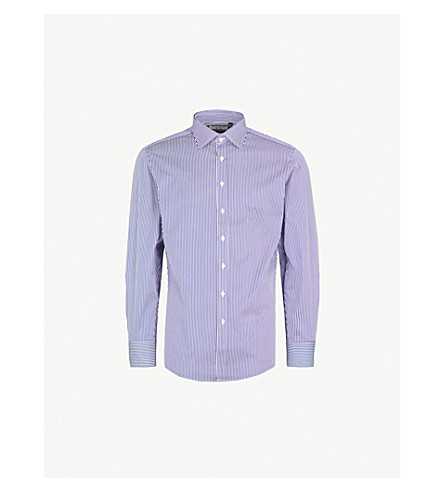 THOMAS PINK Grant cotton shirt (Navy/white