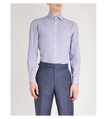 THOMAS PINK Grant cotton shirt (Navy/white