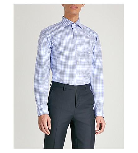 THOMAS PINK Summers Check cotton shirt (Pale+blue/white