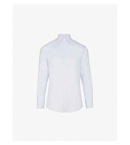 THOMAS PINK Timothy slim-fit cotton shirt (Pale+blue
