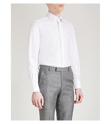THOMAS PINK Timothy slim-fit cotton shirt (White
