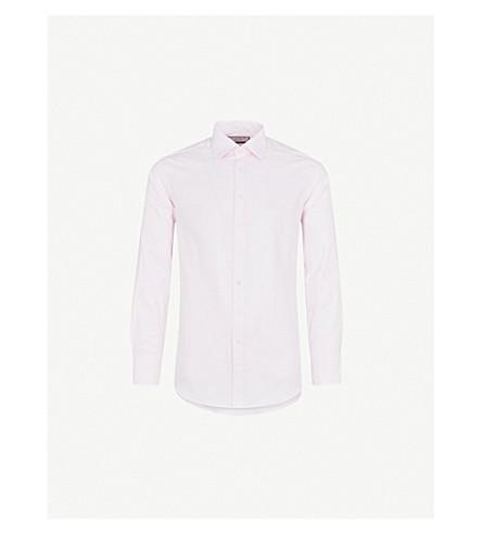 THOMAS PINK Brompton checked slim-fit cotton shirt (Pale+pink/white