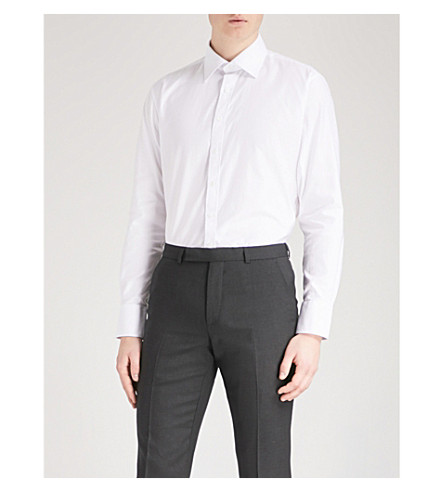 THOMAS PINK Winston slim-fit cotton shirt (White