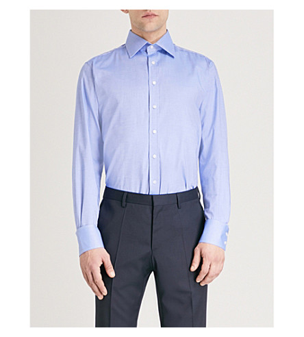 THOMAS PINK Clyde slim-fit cotton oxford shirt (Blue