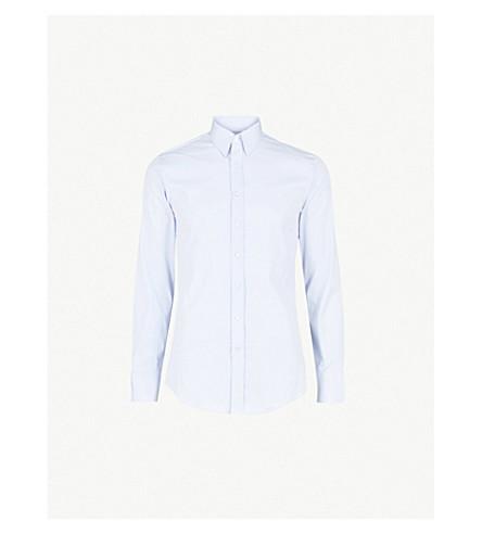 THOMAS PINK Freddie slim-fit cotton-blend shirt (Pale+blue