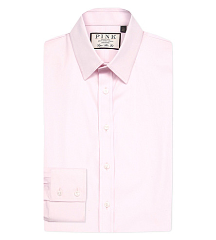 THOMAS PINK Freddie super slim-fit cotton shirt (Pink
