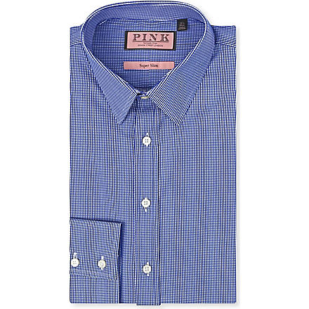 THOMAS PINK Lydiard super-slim single-cuff shirt (Blue