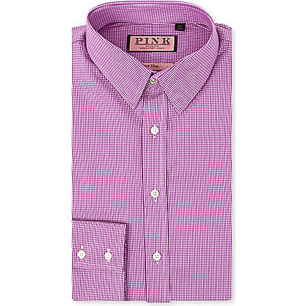 THOMAS PINK Lydiard super-slim single-cuff shirt (White/purple