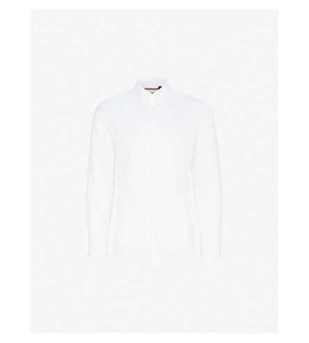 THOMAS PINK Freddie super slim-fit cotton-blend shirt (White