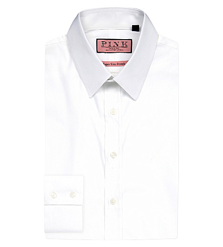 THOMAS PINK Freddie super slim-fit single-cuff shirt (White
