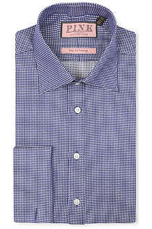 THOMAS PINK Johnson textured slim-fit double-cuff shirt