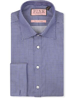 THOMAS PINK Johnson textured slim-fit double-cuff shirt