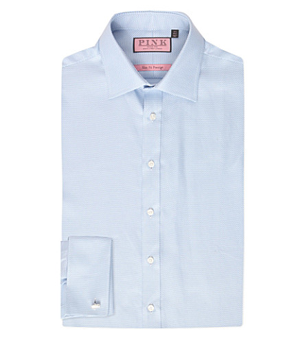 THOMAS PINK Joseph slim-fit cotton shirt (Blue/blue