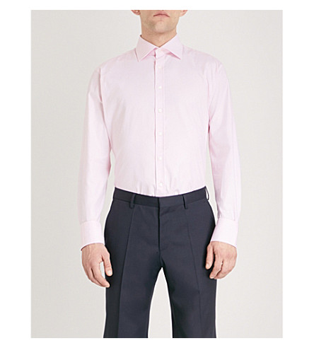 THOMAS PINK Rydale athletic-fit cotton Oxford shirt (Pale+pink