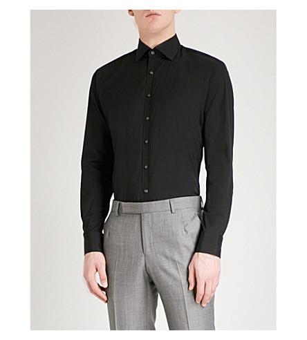 THOMAS PINK Rock athletic-fit cotton-blend shirt (Black
