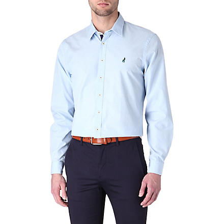 THOMAS PINK Lowe cotton poplin shirt (Blue