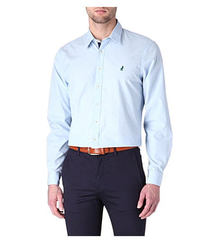 THOMAS PINK Lowe cotton poplin shirt (Blue