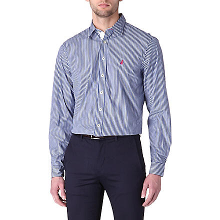 THOMAS PINK Latitude regular-fit button-cuff shirt (Navy