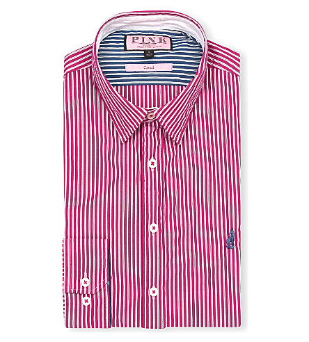 THOMAS PINK Latitude regular-fit button-cuff shirt (Red