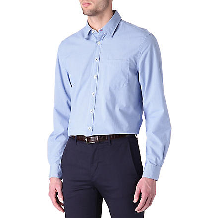 THOMAS PINK Longitude regular-fit button-cuff shirt (Blue