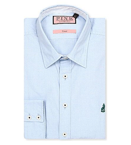 THOMAS PINK Lower regular-fit single-cuff shirt (Blue