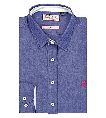 THOMAS PINK Landguard classic-fit cotton shirt (Blue