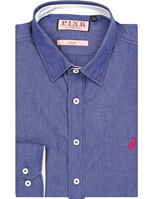 THOMAS PINK Landguard regular-fit button-cuff shirt