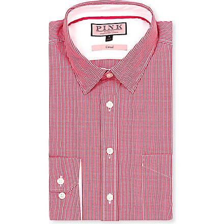 THOMAS PINK Longitude regular-fit single-cuff shirt (Red/white
