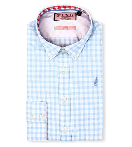 THOMAS PINK Malkin regular-fit single-cuff shirt (Blue