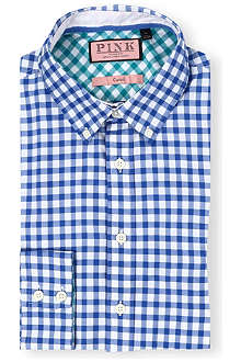THOMAS PINK Malkin regular-fit single-cuff shirt
