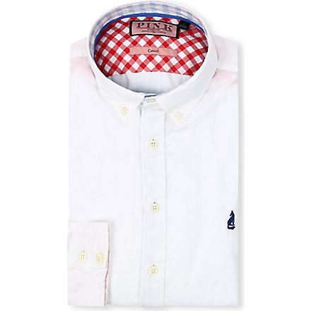 THOMAS PINK Malkin regular-fit single-cuff shirt (White
