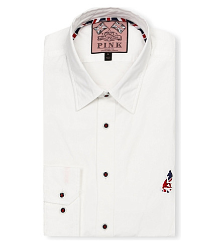 THOMAS PINK Phillip regular-fit single-cuff shirt (White