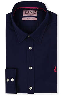 THOMAS PINK Drake slim-fit single-cuf shirt