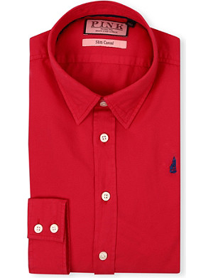 THOMAS PINK Drake slim-fit single-cuff shirt