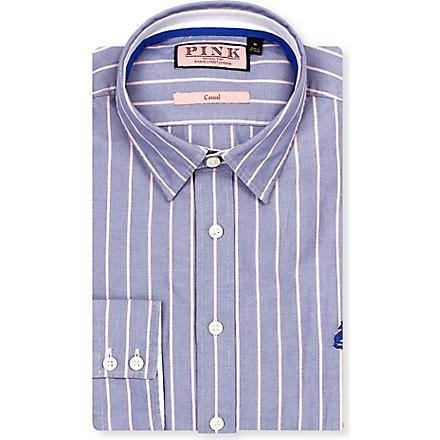 THOMAS PINK William regular-fit button-cuff shirt (Blue/pink