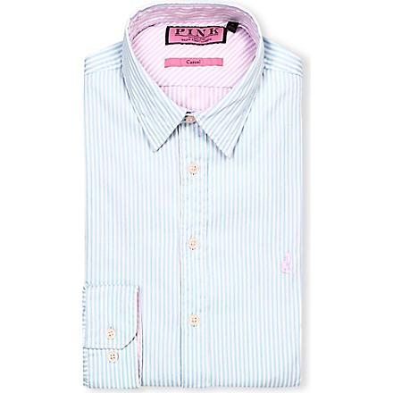 THOMAS PINK Albin regular-fit single-cuff shirt (Pale blue/pink