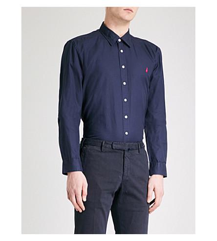THOMAS PINK Drake slim-fit cotton shirt (Navy
