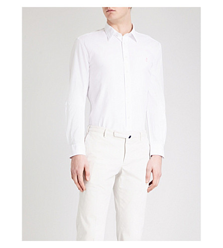 THOMAS PINK Drake slim-fit cotton shirt (White
