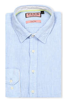 THOMAS PINK Malcolm regular-fit single-cuff linen shirt