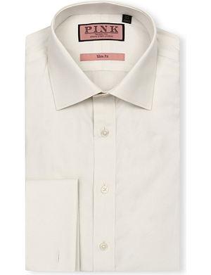 THOMAS PINK Malcolm regular-fit single-cuff linen shirt