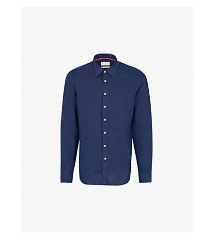 THOMAS PINK Miller classic-fit linen shirt (Navy