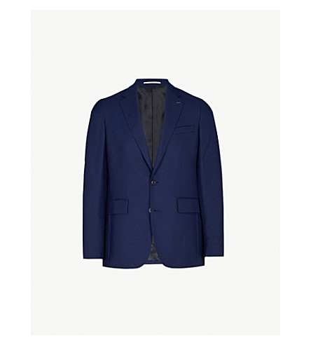 THOMAS PINK Henley hopsack-weave classic-fit wool jacket (Navy