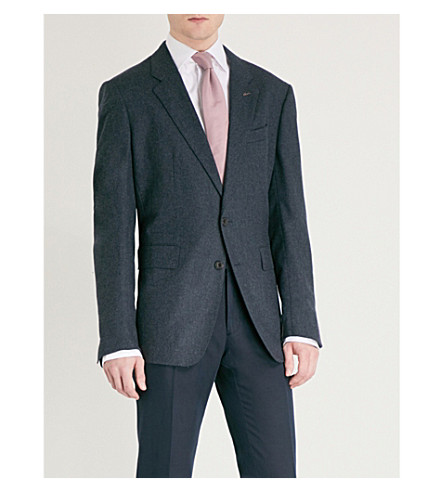 THOMAS PINK Classic-fit wool and cashmere-blend jacket (Navy