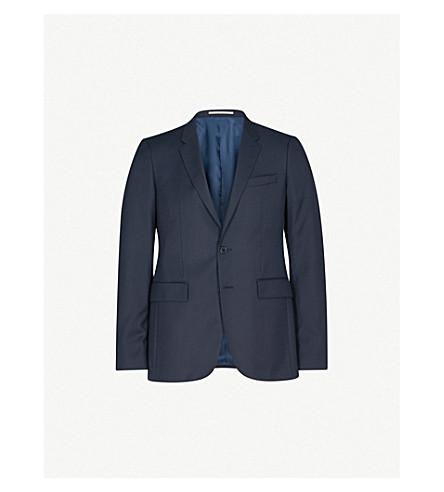 THOMAS PINK Hamilton birdseye-pattern slim-fit wool jacket (Navy/black
