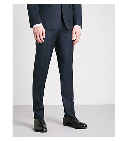 THOMAS PINK Hamilton birdseye-pattern slim-fit wool trousers (Navy/black