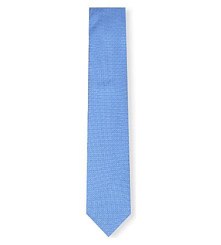 THOMAS PINK Newham Plain silk tie (Sky