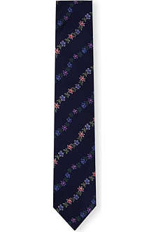 THOMAS PINK Maypole Flower silk tie