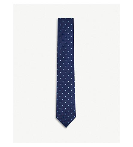 THOMAS PINK Tilbury silk tie (Navy/sky