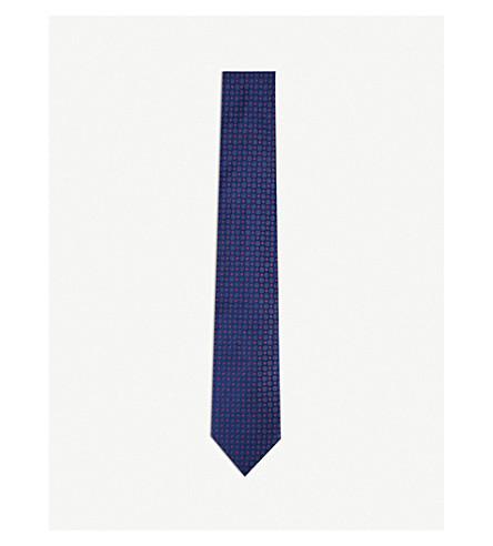 THOMAS PINK Sargin silk tie (Navy/pink